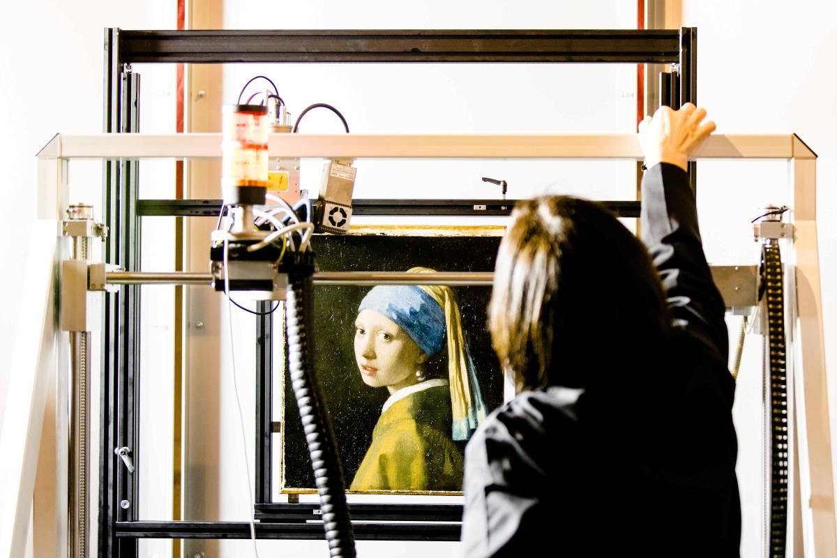 Vermeers Mädchen Mit Dem Perlenohrring Beim Röntgen Nrzde Kultur