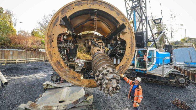 Renaturierung: Sälzerbach-Baustelle: Tunnelbohrungen stehen bevor