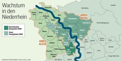 Karte Niederrhein.Enni Entwickelt Sich Zum Regionalen Versorger Am Niederrhein Nrz