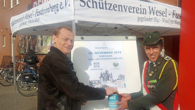 Fusternberger Schützen sammeln für Kriegsgräberfürsorge - NRZ