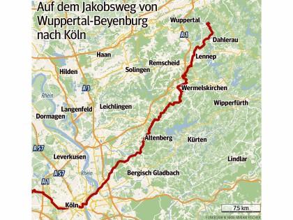 Flughafen D303274sseldorf Karte.Jakobsweg Niederrhein Karte