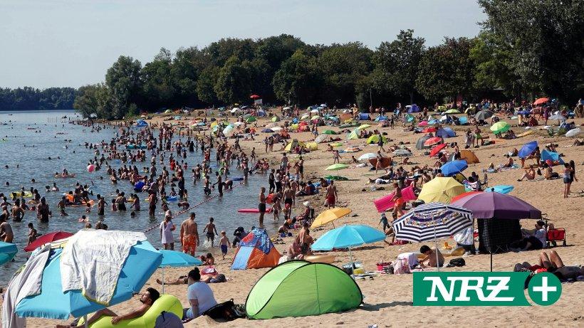 Hitzewochenende sorgt für Hochbetrieb am Auesee in Wesel